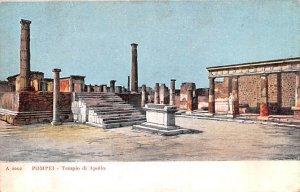 Tempio di Apollo Pompei Italy Unused