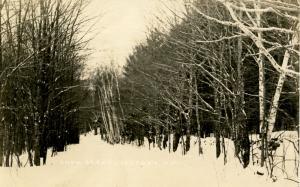 NH - Jaffrey. Snow Scene.    *RPPC