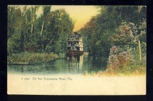 Florida/FL Postcard, Boat On The Ocklawaha River