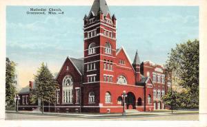 Greenwood Mississippi Methodist Church Street View Antique Postcard K47109