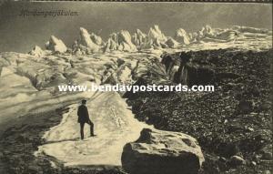 norway norge, Hardangerjøkulen Glacier (1910s)