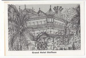 Haiti Grand Hotel Oloffson Port au Prince Artists Drawing Vtg Postcard