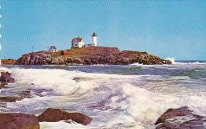 Nubble Lighthouse at York Beach,  Maine,   40-60s
