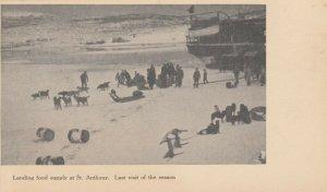 LABRADOR , Canada , 1900-10s ; St. Anthony , Landing Food Supply
