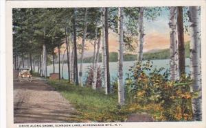 New York Adirondack Mountains Schroon Lake Drive Along Shore Curteich