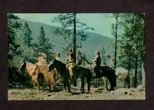 CA Hoberg Resort Horses Horseback Riding Lake County Mtn Postcard California