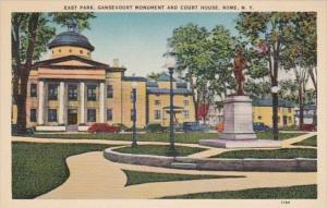 New York Rome East Park Gansevoort Monument and Court House