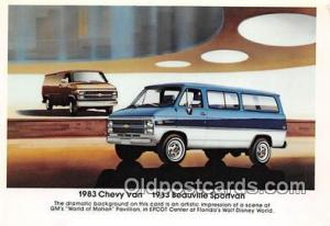 1983 Beauville Sportsvan Postcard Post Card 1983 Chevy Van