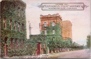 Hiram Walker AD Walkerville Ontario ON CC Canadian Club Whiskey Postcard E43