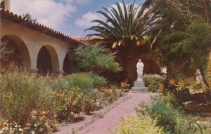 California San Diego Inner Court and Garden Mission San Diego De Alcala Found...