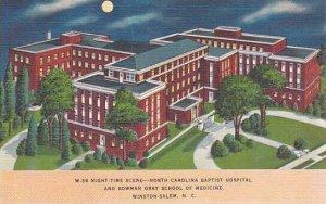 North Carolina Winston Salem Night Time Scene North Caolina Baptist Hospital ...