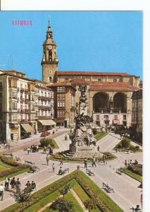 Postal 029387 : Vitoria Plaza de la Virgen Blanca
