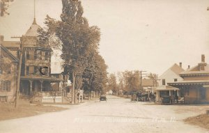 LPS65 Mountainview New Hampshire Main Street Town View Postcard RPPC