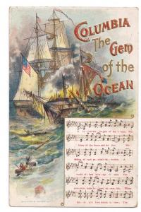 ca 1912 Columbia Gem of the Ocean Music Chas Rose Embossed