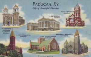 PADUCAH, Kentucky, 1930-1940's; Multiple View Of Churches, St. Francis De Sal...