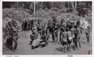 Uganda Congo African Pigmies Pygmies Real Photo Old Postcard