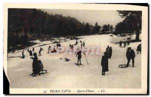 Postcard Old Peira Cava Winter Sports Skiing Luge