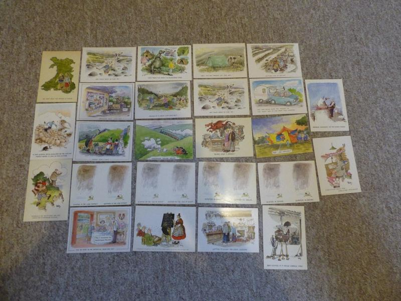 bu0070 - 25 Postcards by comic artist Rupert Besley - All Shown