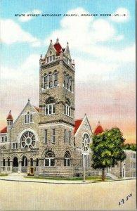 Vintage Postcard State Street Methodist Church Bowling Green Kentucky 1953  277