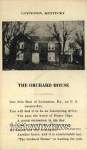 The Orchard House Lexington KY 1939
