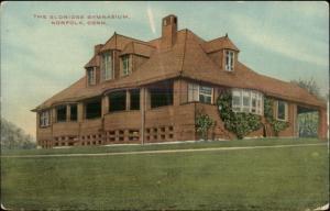 Norfolk CT Eldridge Gymnasium c1910 Postcard