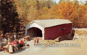 Covered Bridge Vintage Postcard Narrows Covered Bridge Parke County, IN, USA ...