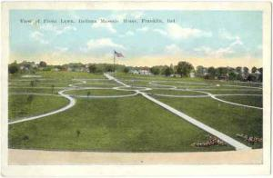 View of Front Lawn, Indiana Masonic Home, Franklin, IN, White Border