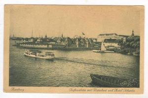 Hamburg , Germany, Aussenalster mit Alsterlust und Hotel Atlantic, Germany, 0...