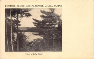 Boulder Brook camps, Center, Lovell, Maine, Early Postcard, Unused