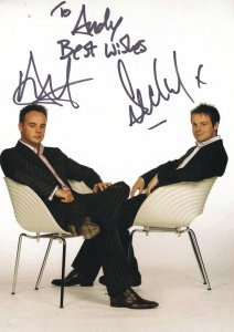 Ant & Dec I'm A Celebrity Double Large Hand Signed Photo