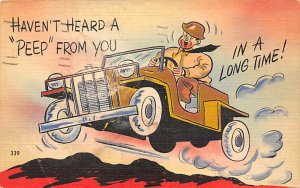 World War 2 Post Card Haven't Heard a 'Peep' From You in...