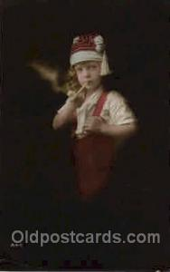 Children Smoking Postcard Postcards