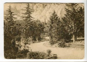 402833 RUSSIA  SIMEIZ park Vintage GIZ postcard