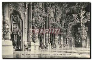 Paris - 9 - L & # 39Opera - Foyer - Old Postcard