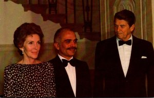 President Ronald Reagan and Nancy Reagan With King Hussein 16 November 19181