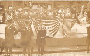 Ohio Postcard Real Photo RPPC c1910 TOLEDO Papal Delegate In Review Patriotic