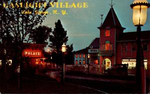 New York Lake George Gaslight Village At Night