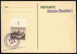 3rd Reich Germany 1939 Skotschau Provisional Oberschlesien Silesia Poland  83101
