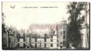 Old Postcard Meillant Chateau frontage North