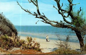 Georgia Jekyll Island Strolling Along The White Sandy Beach 1978