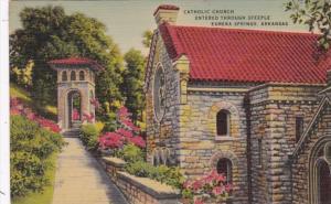 Arkansas Eureka Springs Catholic Church Entered Through Steeple