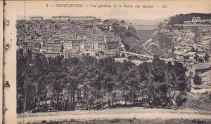 CONSTANTINE, Vue generale et la Sortie des Gorges, Algeria, 10-20s