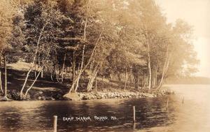 Poland Maine Camp Maqua Waterfront Real Photo Antique Postcard K84280