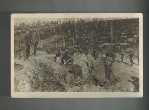 Mint US Army RPPC Postcard 310 Engineers Digging Trenches WW 1 France