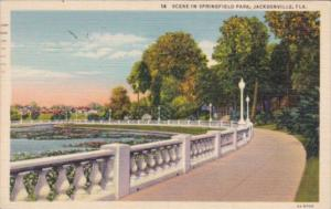 Florida Jacksonville Scene In Springfield Park 1942 Curteich
