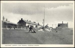 Falkland Islands, PORT STANLEY, Victory Green (1920s)