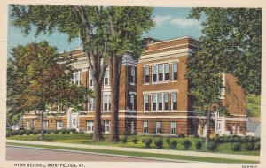 MONTPELIER , Vermont , 1930-40s ; High School