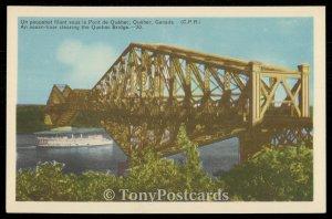 Ocean Liner Clearing the Quebec Bridge