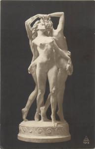 Vintage art postcard nudes in sculpture