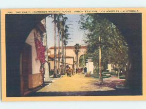 Linen PATIO AT WAITING ROOM Los Angeles California CA ho1596